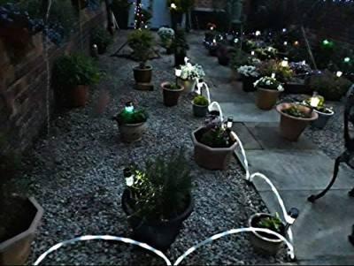 garden mile garden mile 6 x led solarlicht rohr stick solar | gartenlichter