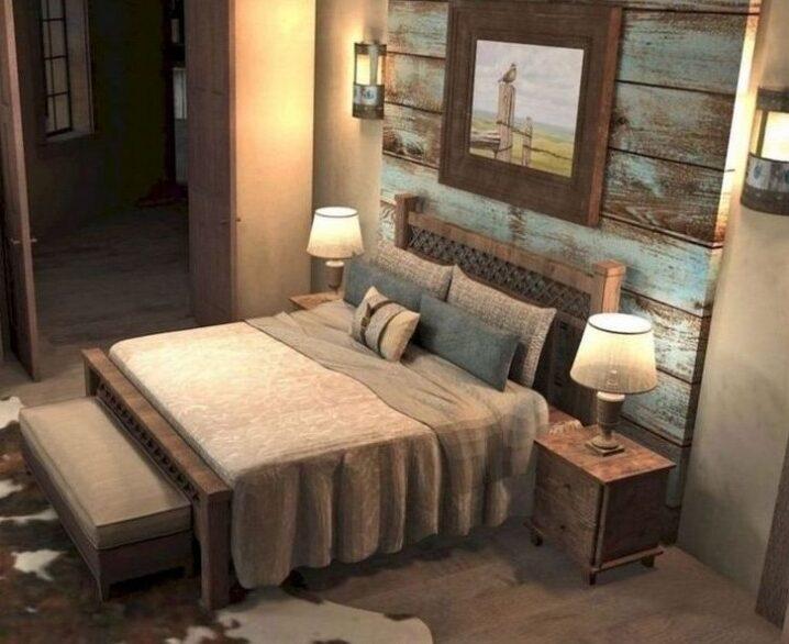moderne rustikale hauptschlafzimmer design ideen | rustikales modernes design