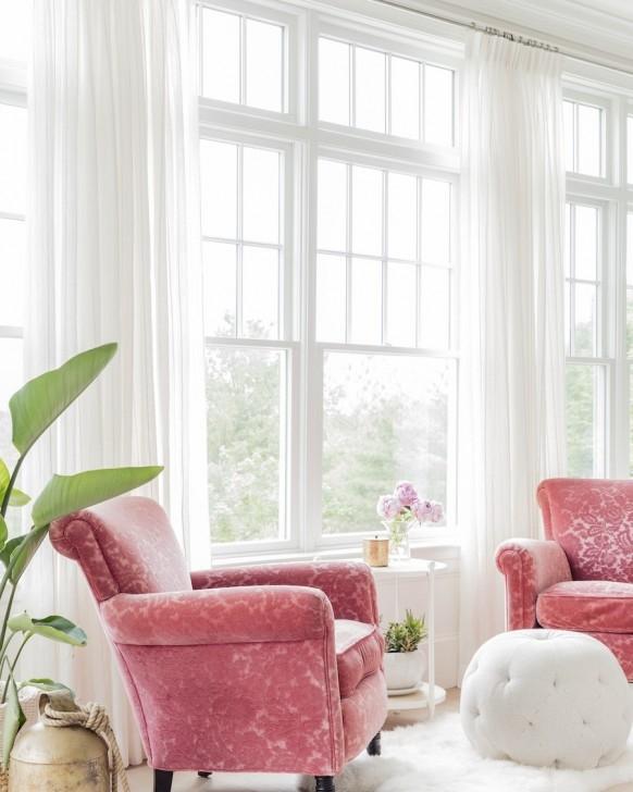 rosa akzent stuhl wohnzimmer | akzentstühlen