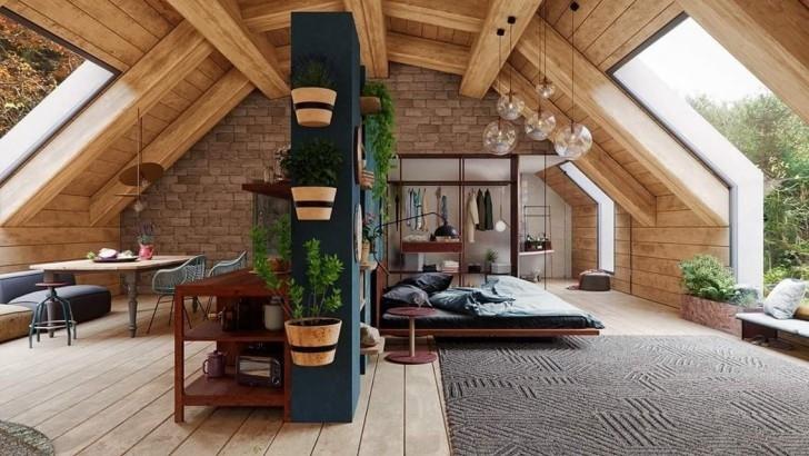 Rustikales Luxusresort-Design und Dekor