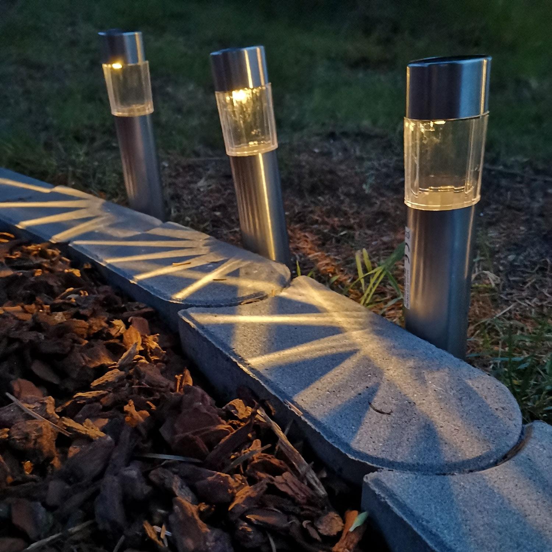 solarlampe 6 stk warmweiss wegeleuchten solarleuchten leds | gartenlichter