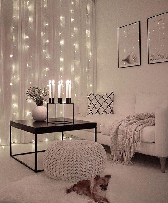 string lights ideas for living rooms | lighting design